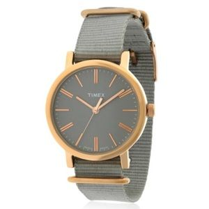 """Timex """"Heritage Collection"""" rose gold/gray watch"""
